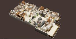 3D FLOOR PLAN OF 1 KANAL HOUSE