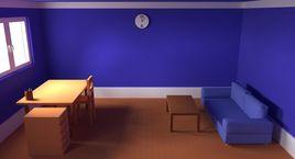 Cartoon bedroom