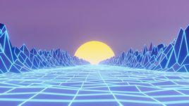 80's retrowave style animation [Blender EEVEE]