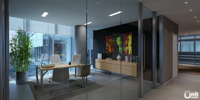 Hall and Office CGTrader