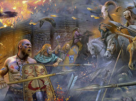 Attack of Germanic tribes against Celts -100BC