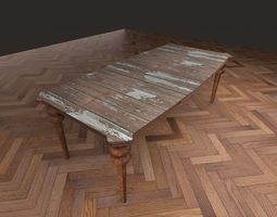 table Table 3D model low-poly