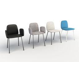 3D model Leda Chair Miniforms