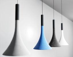 Concrete Light Fixture UE4 3D model