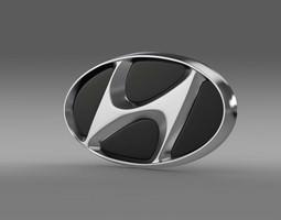 hyundai company logo 3d