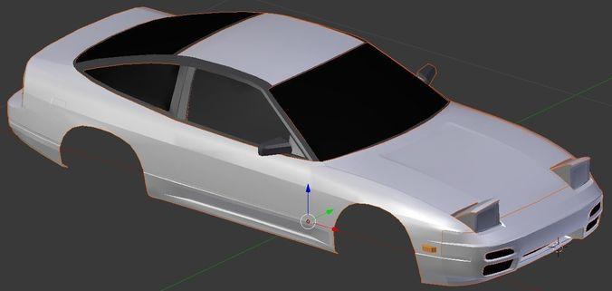 Nissan 240SX Coupe | 3D model