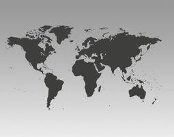3D model World map fbx