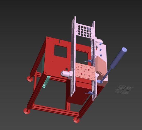 pcb assembly line 3d model max obj mtl 3ds stl sldprt sldasm slddrw ige igs iges 1
