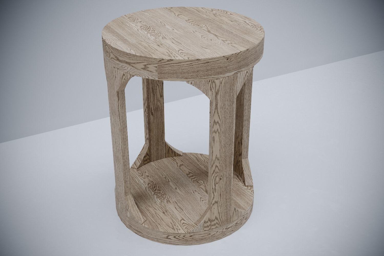 Restoration Hardware Martens Round Side Table 3d Model