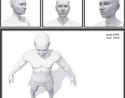 3D model Male Low Poly BaseMesh