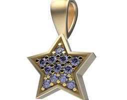 3D print model Pendant Happy Stars