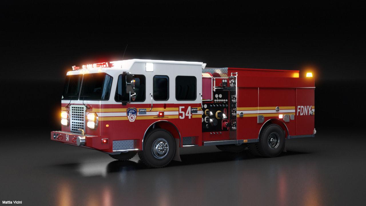 American Fire Engine Rescue Pumper Truck