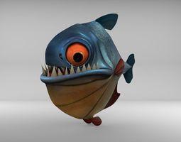 Piranha 3D asset