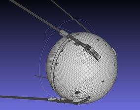 Sputnik Satellite 3D-Printable Detailed Scale