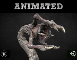3D asset Armored Clawed Worm
