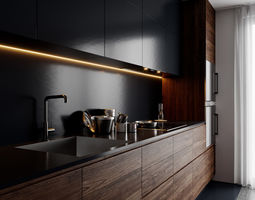 modern kitchen for cinema 4d and corona renderer 3d