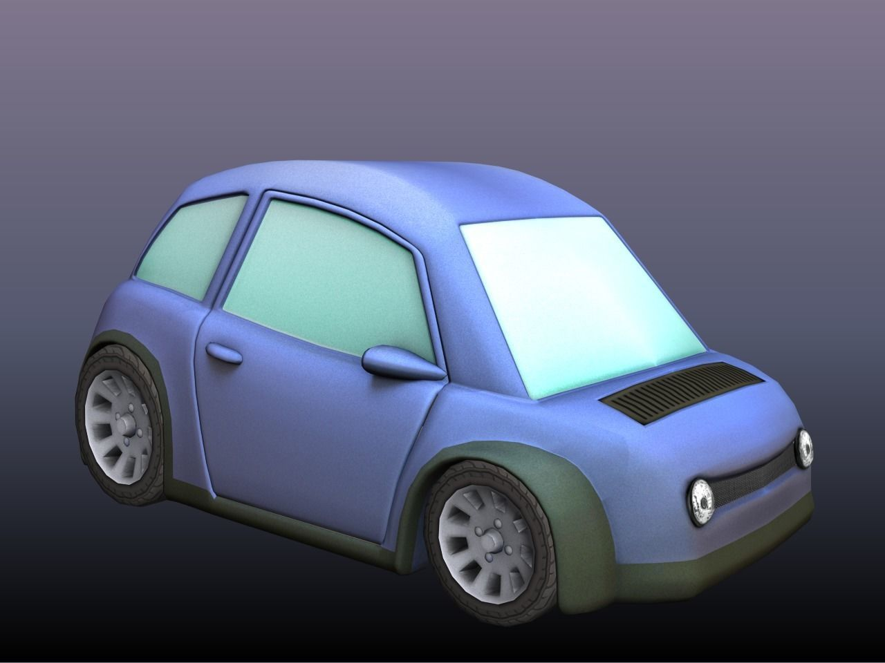 3d Model Cartoon Car Cartoon Cgtrader