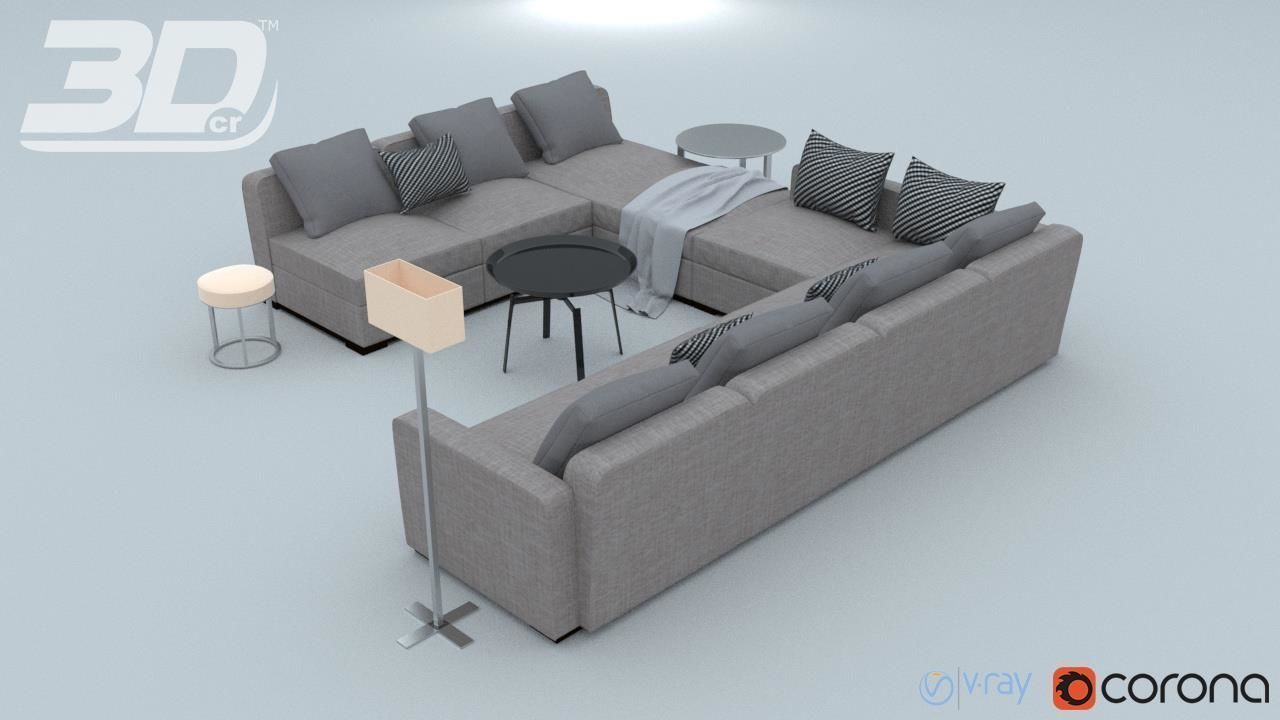 Groovy Lassrim Corner Sofa Set 3D Model Cjindustries Chair Design For Home Cjindustriesco