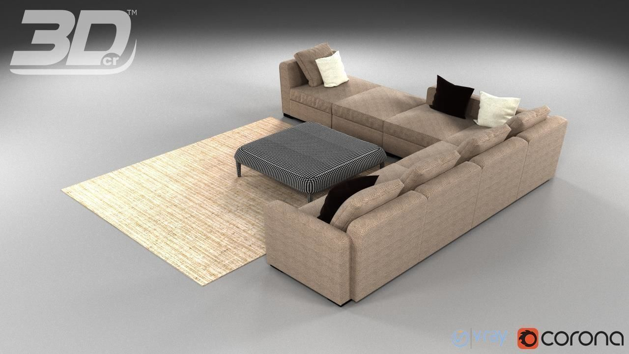 Fine Quintis Corner Sofa Set 3D Model Cjindustries Chair Design For Home Cjindustriesco