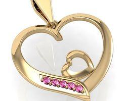 3D printable model beautyful pendant hearts