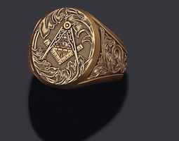 Freemason ring 3D printable model