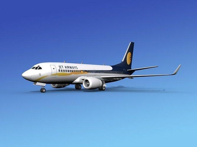 boeing 737-700er jet airways 3d model max obj mtl 3ds lwo lw lws dxf stl 1