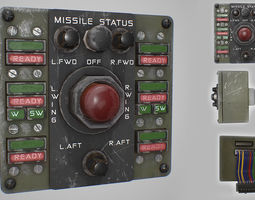 3D asset Missile Control Panel