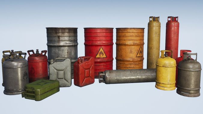 explosive props pbr 3d model low-poly max obj mtl 3ds fbx dae tga 1