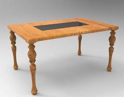3D model middle glazed table