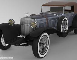 3D Mercedes Benz SS Year 1928 VR / AR ready