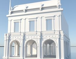 realtime Italian Palace 3D Model city context