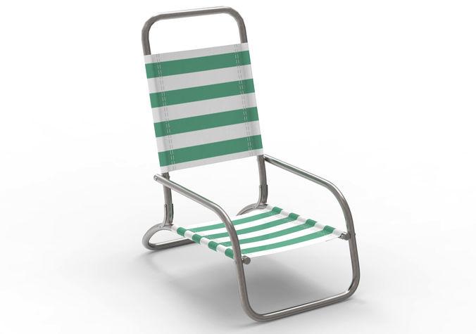 beach chair metal 3d model max obj mtl fbx c4d 1