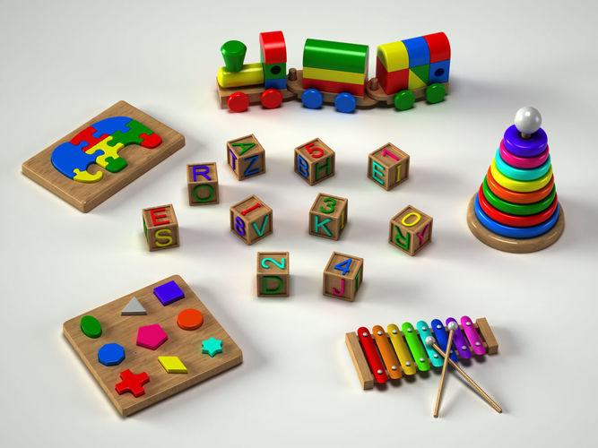 toys collection 3d model obj mtl fbx ma mb 1