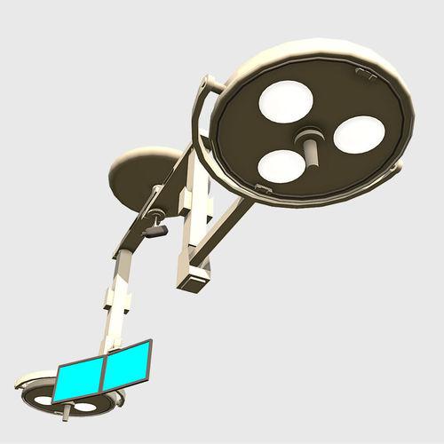 overhead lights 3d model fbx ma mb 1