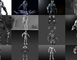 Sci-Fi Characters Collection Part 1 3D