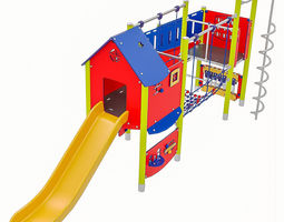 3D asset Playground Equipment 040