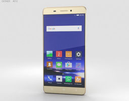 3D model Gionee Marathon M5 Gold phone