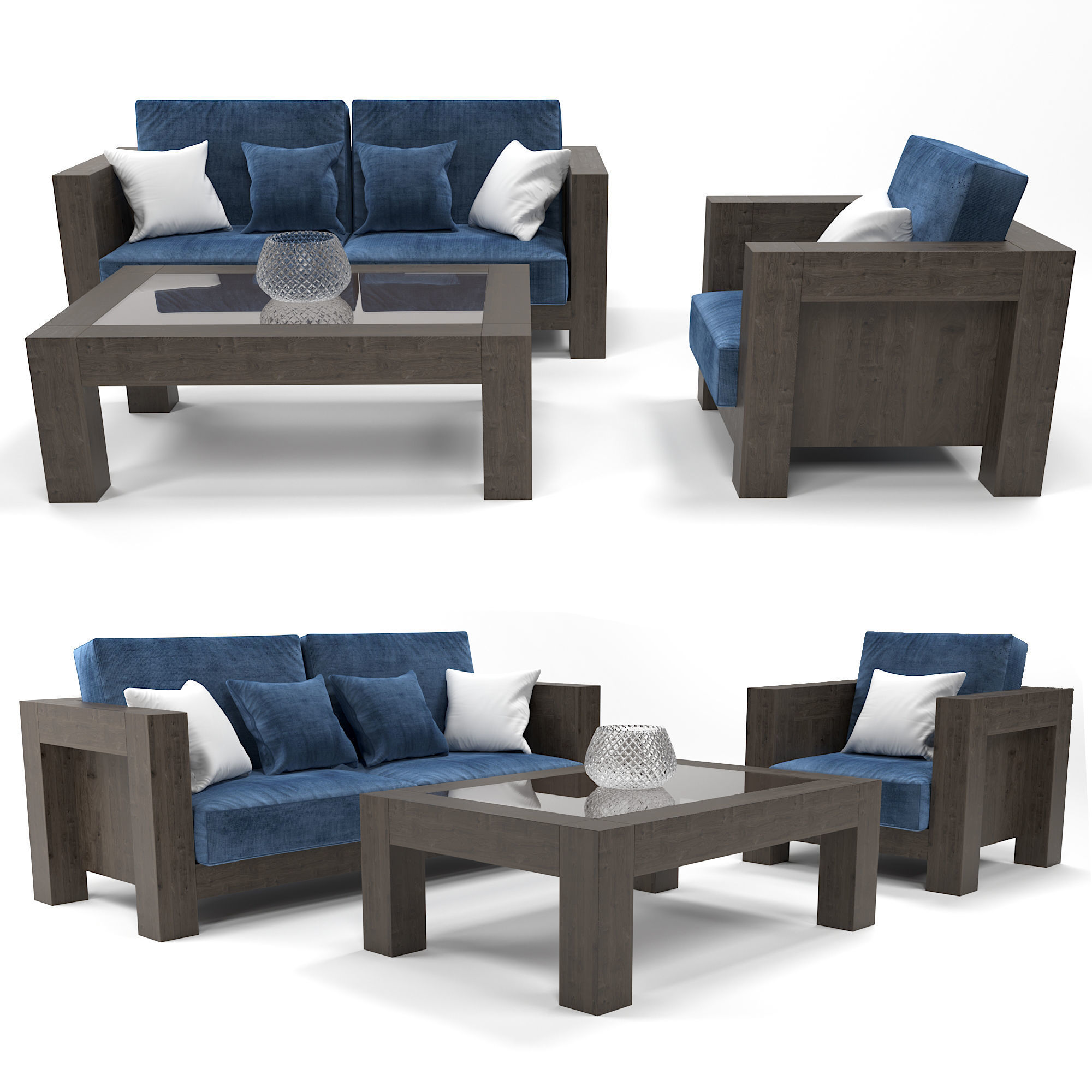 Marvelous Modern Wooden Sofa 3D Model Caraccident5 Cool Chair Designs And Ideas Caraccident5Info