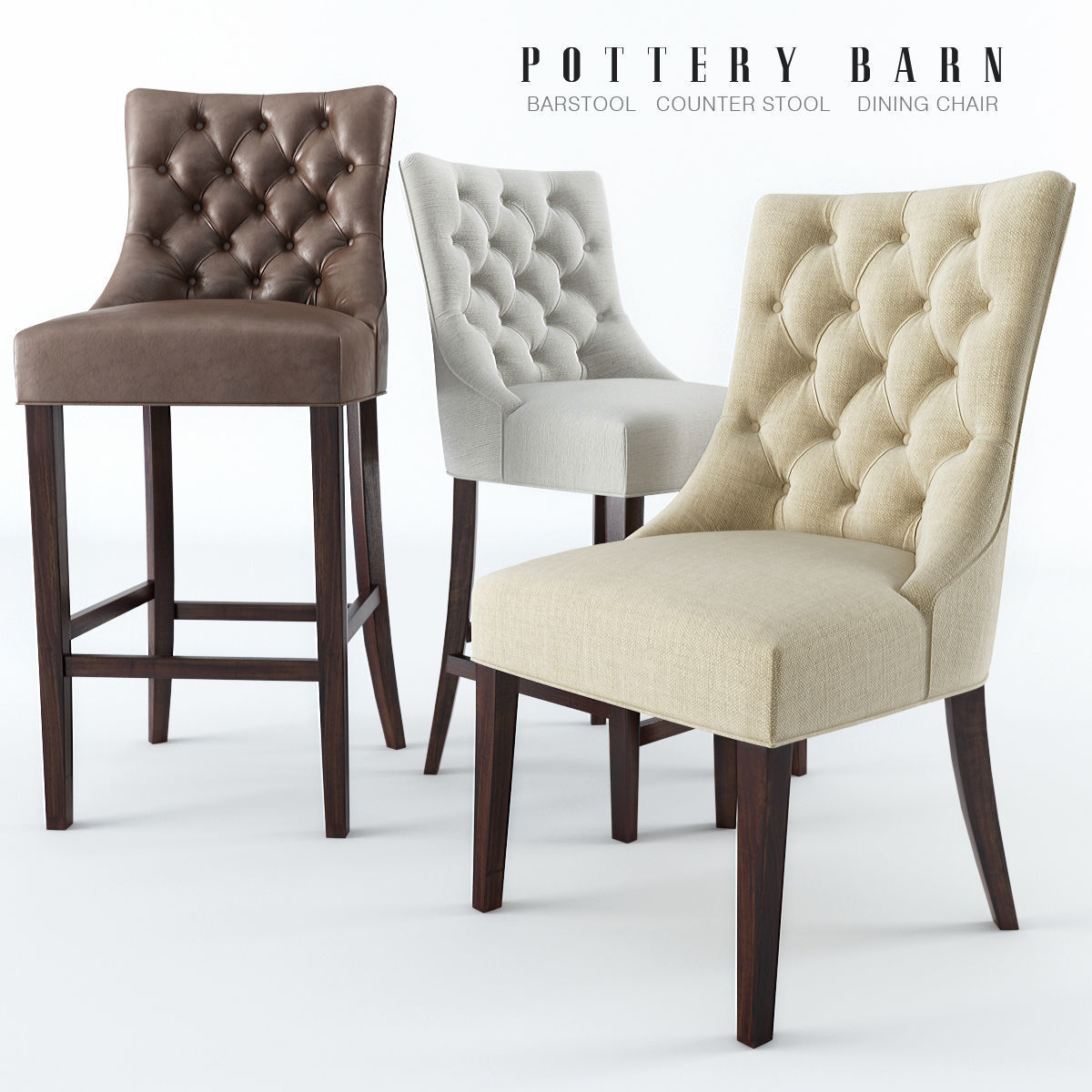 Amazing Chairs Pottery Barn 3D Model Machost Co Dining Chair Design Ideas Machostcouk