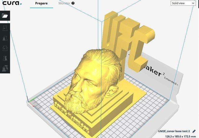 conor mcgregor head on ufc base 3d print file stl 3d model stl 1