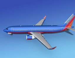 3D model Boeing 737-800 Southwest Airlines