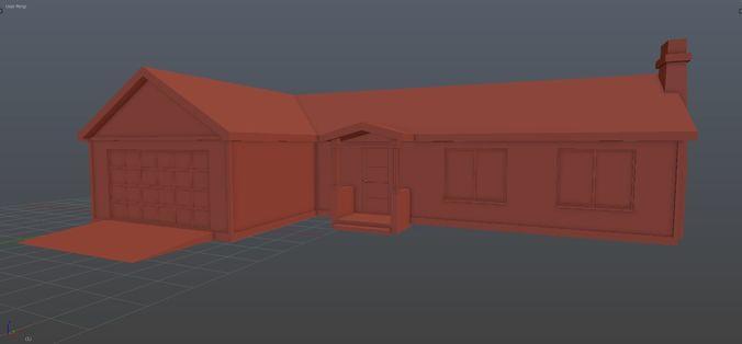 american house 01 3d model blend 1