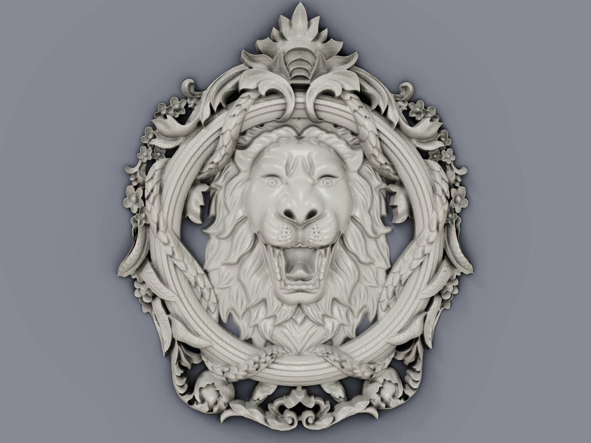 Classic baroque cartouches element  018 LION
