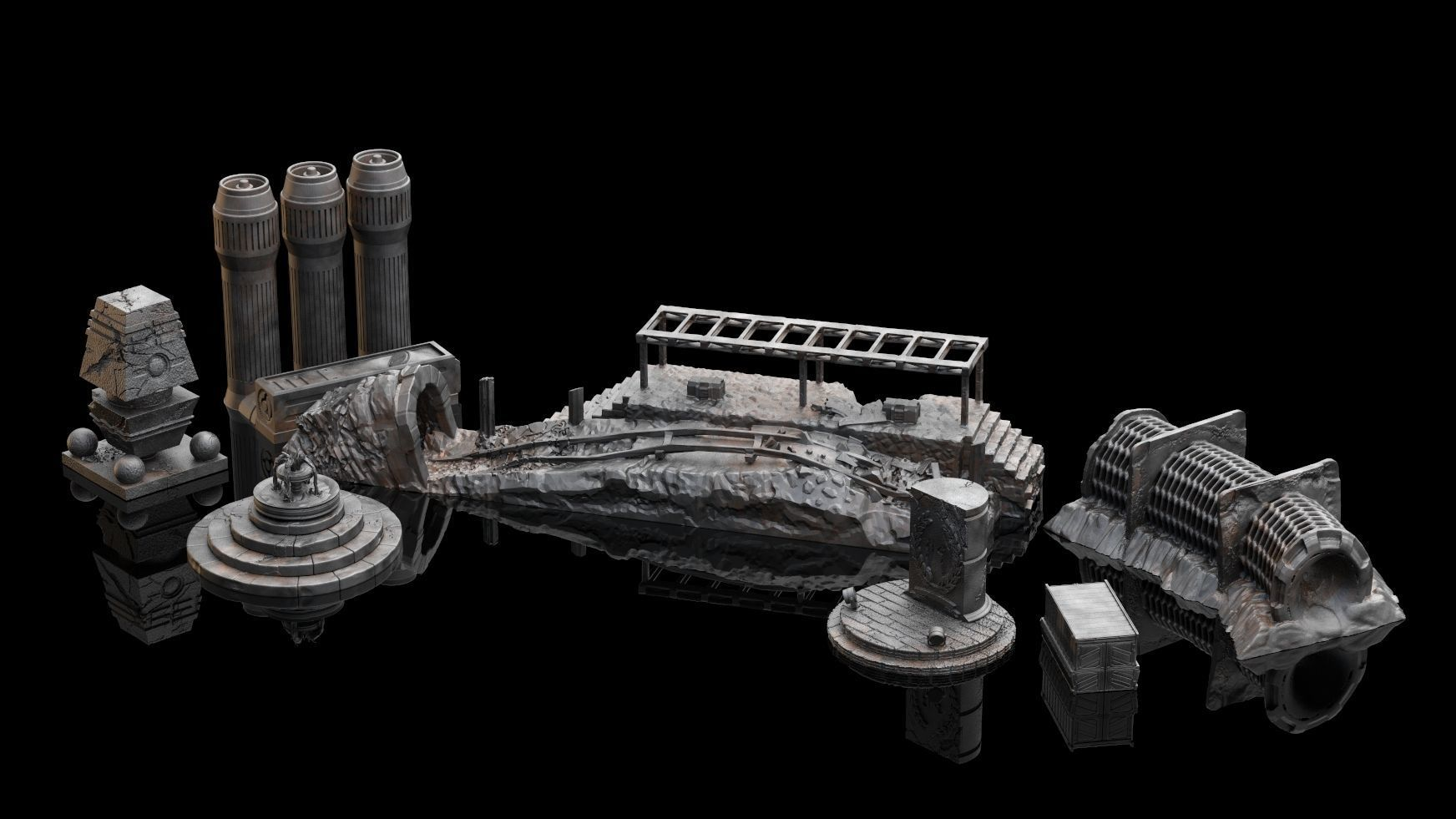 image relating to Free 3d Printable Terrain named Wargaming Terrain - City Landscape 3D Printable Constructions 3D Print Design and style