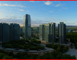 3D Modern City Animated 051