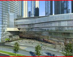 3D model Modern City Animated 057