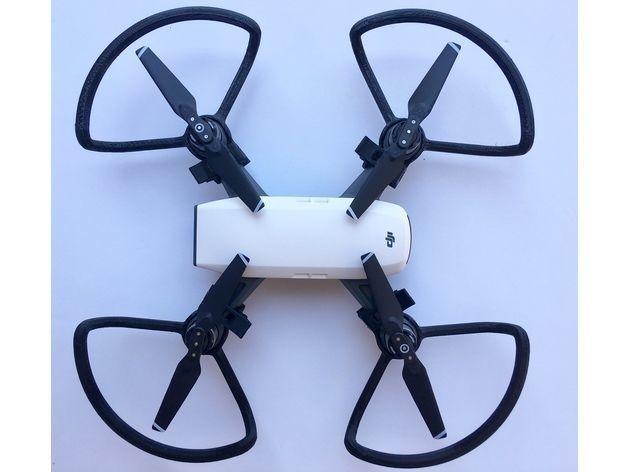 Propeller guard for dji spark quadrocopter   3D Print Model