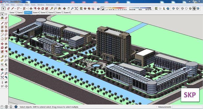sketchup office building g4 3d model 3d model skp 1