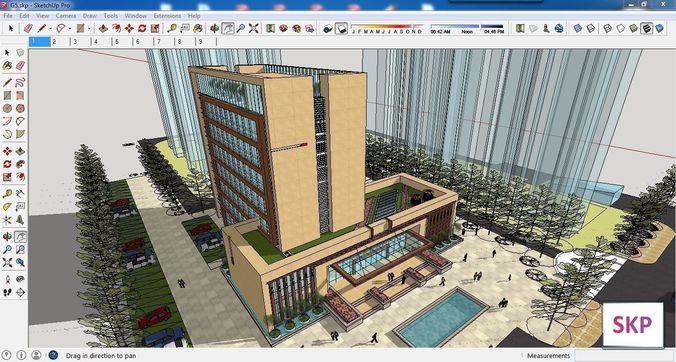 sketchup office building g5 3d model 3d model skp 1