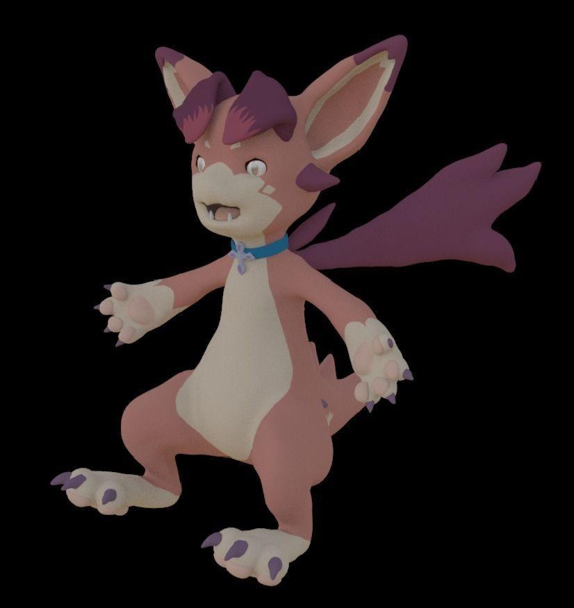 small dragon character | 3D model